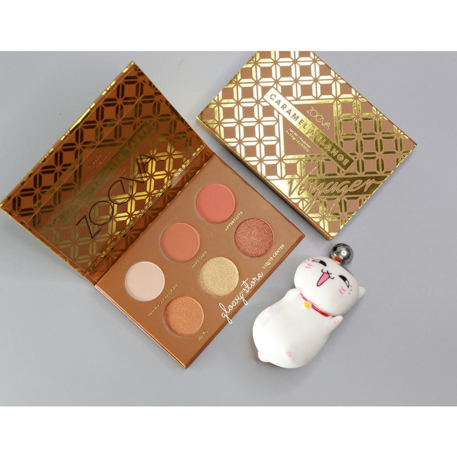 Bảng phấn mắt mini size Zoeva Voyager Caramel Melange Eyeshadow Palette