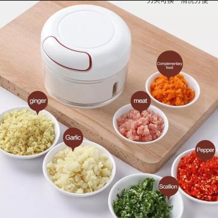 [ HCM - SIÊU RẺ ] Máy xay tỏi ớt cầm tay Mini Food Chopper (cối xay kéo tay)