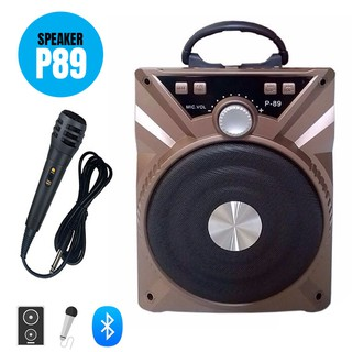 Loa Karaoke bluetooth P88, P89 tặng kèm míc