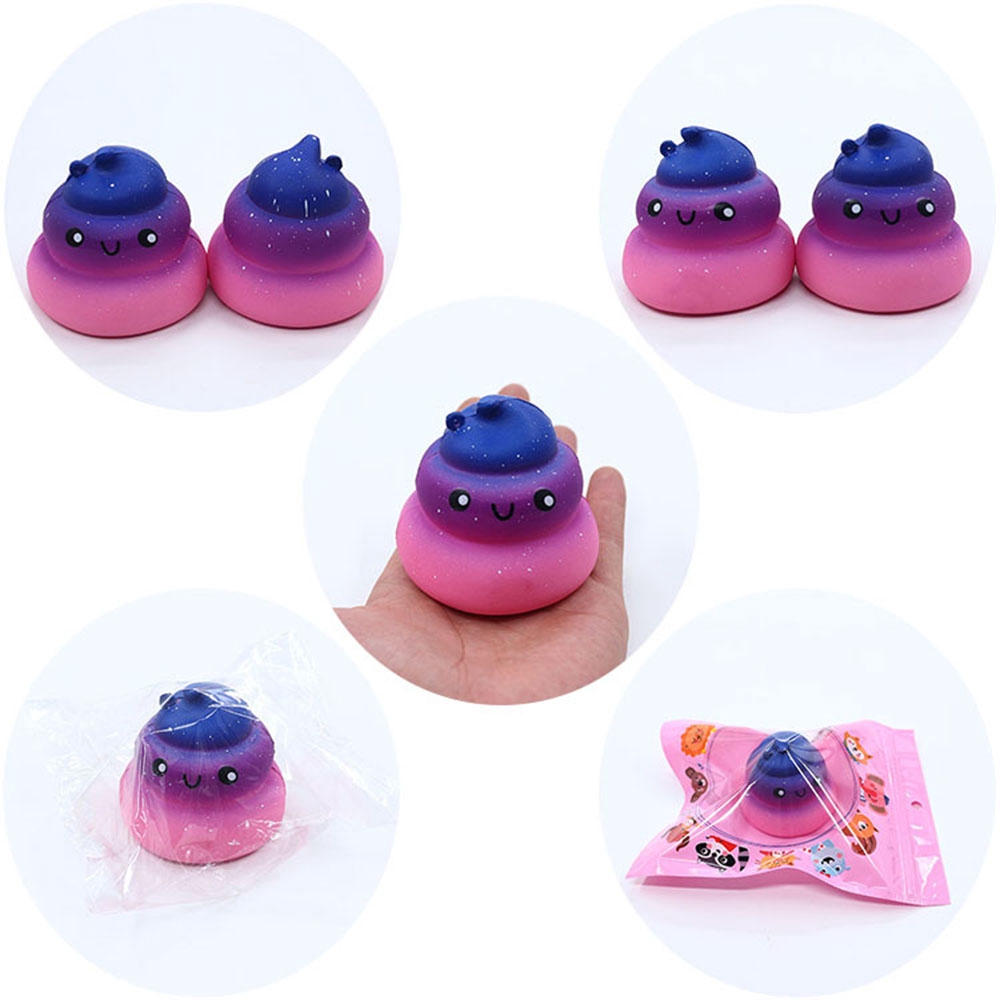 Novelty Funny Gags Antistress Jumbo Soft Charm Galaxy Poo