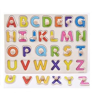Bảng gỗ học bảng chữ cái có núm