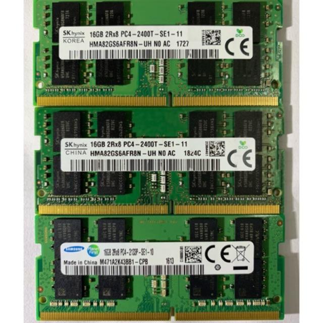 Ram Laptop DDR4 16GB Bus 2133/2400/2666 ( Samsung/Hynix/Miron Hàng zin theo máy 100% bảo hành 36 tháng)