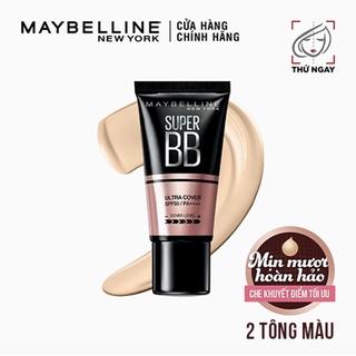 Kem trang điểm BB che khuyết điểm và chống nắng Maybelline New York Super BB Ultra Cover SPF 50 PA++++ 30ml