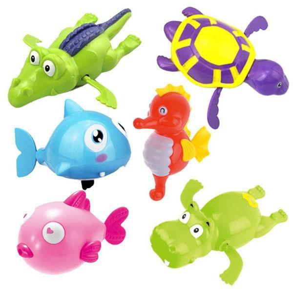 Bộ 6 con thú đồ chơi bồn tắm thú biết bơi cho bé - Loại to - NAM TỪ LIÊM