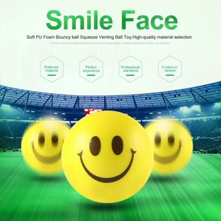 12PCS Smile Face Stress Relief Sponge Foam Balls Hand Strength Squeeze Toy
