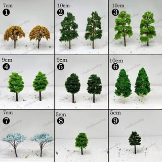 Mô Hình các loại Cây xanh làm tiểu cảnh, mô hình trang trí nhà búp bê, doll house, trang trí sen đá