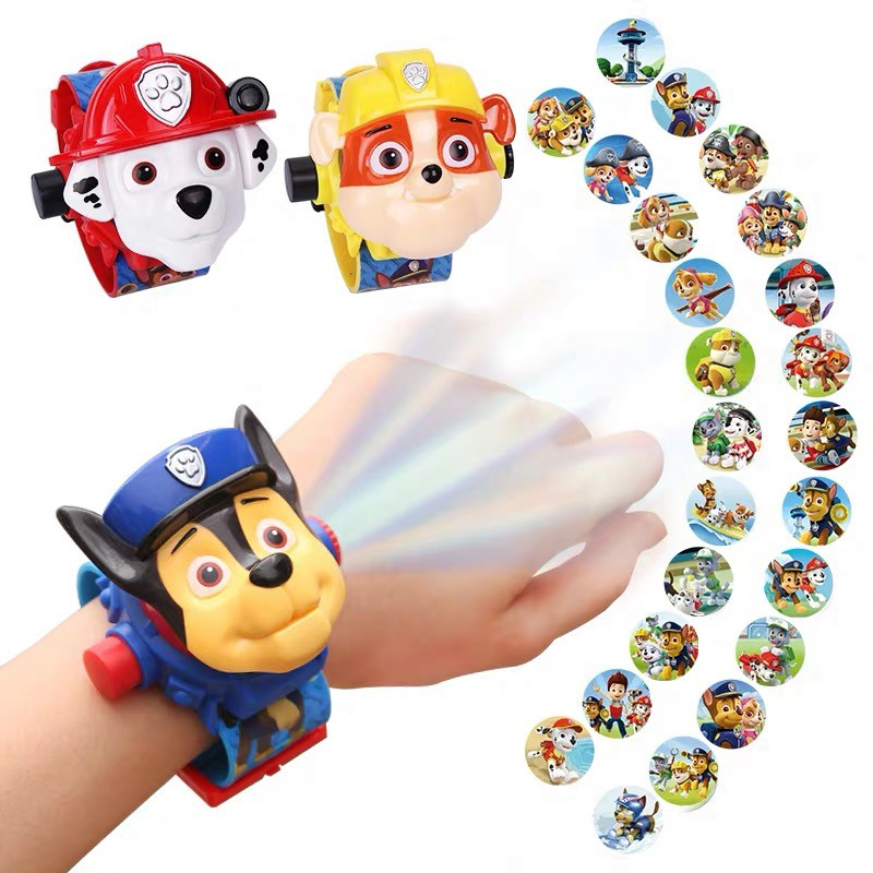 COD Cartoon Kid's Watch✿♘☾Trill boys and girls with the children's toy watch wang wang's 3 d projection cartoon electro