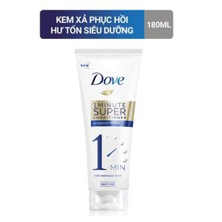 Kem xả Dove phục hồi hư tổn 1 phút siêu dưỡng 180ml