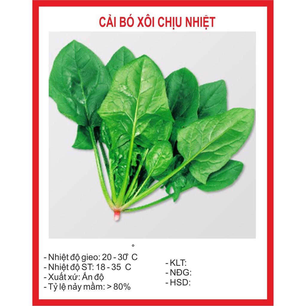 Hạt giống Cải Bó Xôi 20gr ~2500 hạt