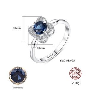Hình ảnh Nhẫn Bạc Nữ Hình Hoa Bốn Cánh Đính Đá Xanh Lam N-2395-Bảo Ngọc Jewelry-5