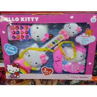 Bộ 3 Đàn Và Điện Thoại Hello Kitty