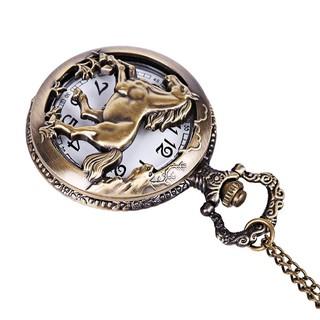 Đồng hồ quả quýt bỏ túi thiết kế mặt chạm khắc phong cách retro