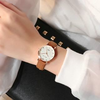 Đồng Hồ Nữ MSTLANQ MS010 thời trang 2019 mặt số dây da PU cao cấp