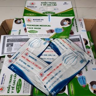Khẩu trang y tế Khánh An 4 lớp kháng khuẩn tiệt trùng đóng túi từng cái thumbnail