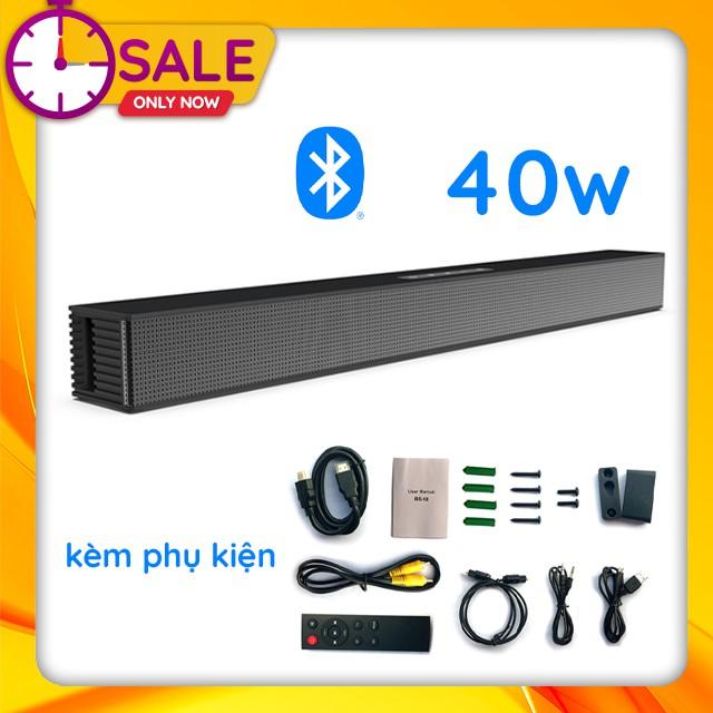 { HOT } Loa Thanh Siêu Trầm Bluetooth Gaming Soundbar 40W Treo Tường BS-18 Dùng Cho Máy Vi Tính PC, Laptop, Tivi