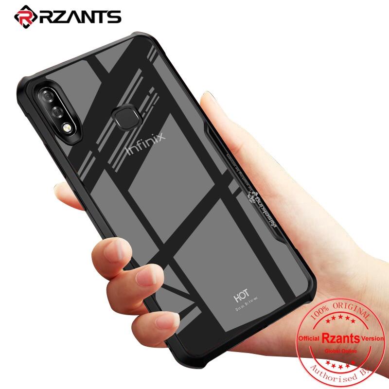 Infinix Hot 7 Pro Case【Transparent Back】ShockProof Phone Casing