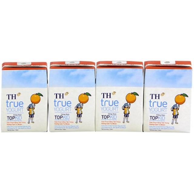Sữa chua uống TH True Yourt Topkid hộp 110ml (lốc 4 hộp) Hương Cam,Dâu,Dâu Chuối - 2608125 , 171687578 , 322_171687578 , 18000 , Sua-chua-uong-TH-True-Yourt-Topkid-hop-110ml-loc-4-hop-Huong-CamDauDau-Chuoi-322_171687578 , shopee.vn , Sữa chua uống TH True Yourt Topkid hộp 110ml (lốc 4 hộp) Hương Cam,Dâu,Dâu Chuối
