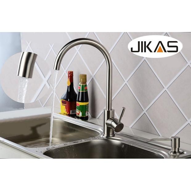 Vòi rửa bát nóng lạnh Inox 304 JIKAS JK-6003