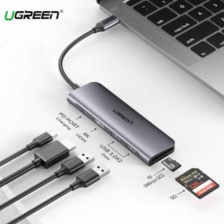 Cổng chuyển USB Type -C to HDMI + USB 3.0*2 + SD/TF + PD Chính hãng Ugreen 70411