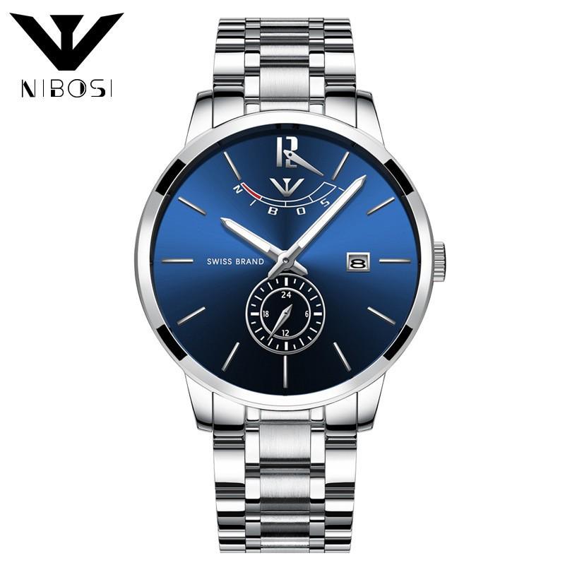 [HOT] Đồng hồ nam Nibosi 2318 dây thép cao cấp thiết kế sang trọng -Hàng tốt