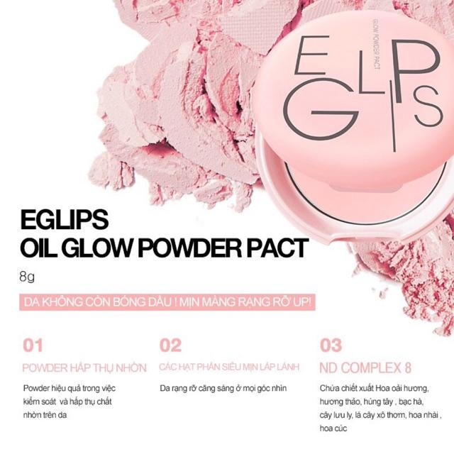 Phấn Phủ Hồng Hào Làn Da Eglips Glow Powder Pact [Pink]