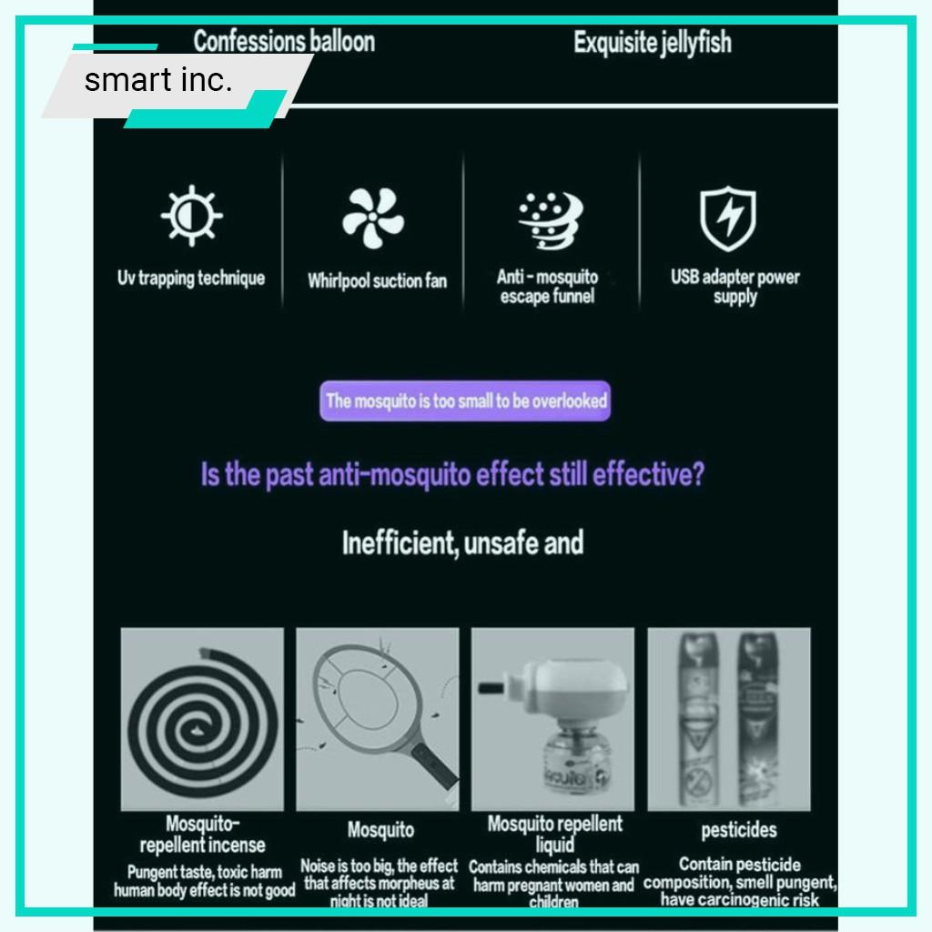 Đèn Bắt Muỗi Thông Minh Máy Bắt Muỗi Kiêm Đèn Ngủ Led Cắm USB Mini Để Bàn Làm Việc Văn Phòng Phòng Ngủ Cho Bé Trẻ Em