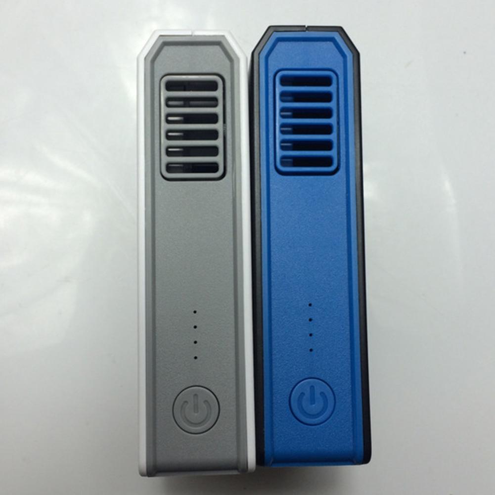 Bladeless 2 In 1 Travel School USB Rechargeable Handheld Personal Low Noise Desktop Mini Fan