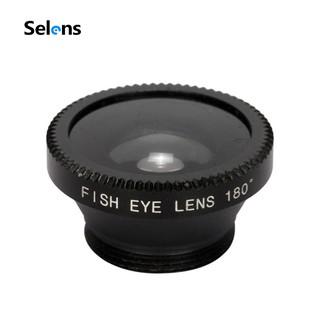 Ống kính Selens 3 trong 1 dạng mắt cá góc rộng macro cho IPhone 6s 6 Samsung HTC
