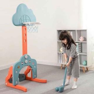 Đồ chơi bộ bóng rổ 3 in 1 (bóng rổ, golf, bóng đá), nhựa nguyên sinh Hàn Quốc cao cấp, an toàn cho bé. Hàng xuất Châu Âu