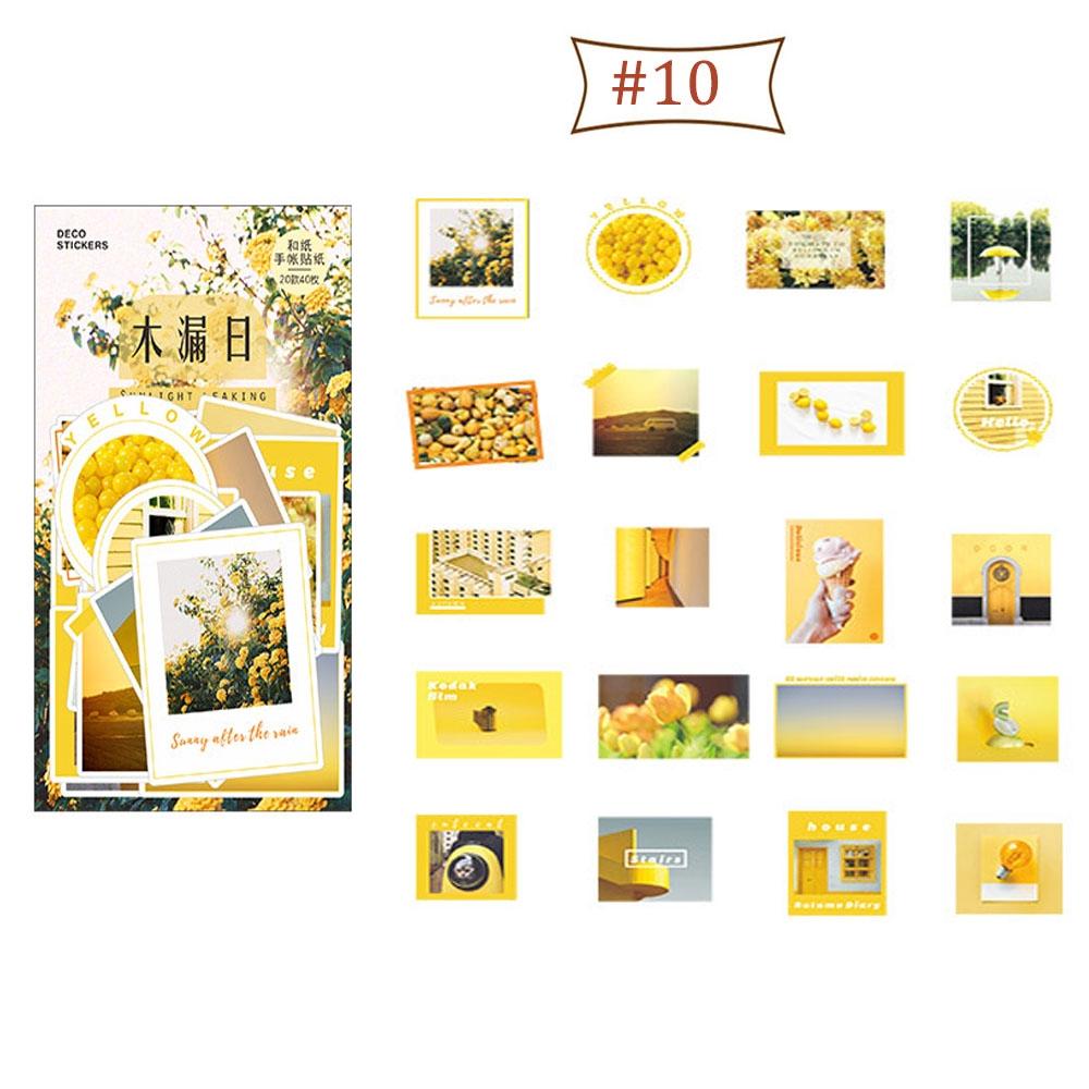 40pcs/set Stationery School Supplies Decoration Background Masking Paper Sticker