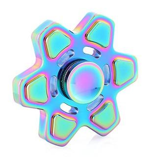 Con quay 6 cánh vuông kim loại cao cấp Rainbow Spinner Ssuper