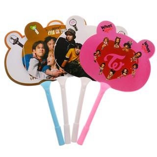 KPOP BTS WANNAONE GOT7 TWICE Pen Fan Cute Ear Design Hand Fan Pen