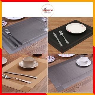 Tấm lót bàn ăn bằng nhựa PVC, cách nhiệt giá rẻ chống trơn trượt giá siêu rẻ thumbnail