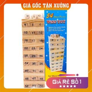 [MIỄN SHIP] Trò chơi Rút gỗ Wiss Toy gồm 54 thanh gỗ – Giúp bé luyện tư duy và sự khéo léo