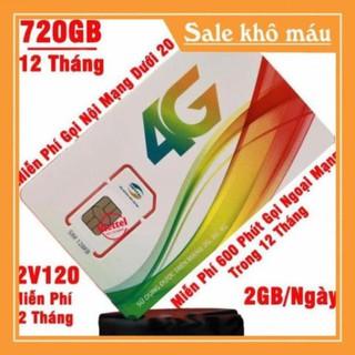 Sim 4G Viettel dùng trọn gói 1 năm 4GB/Tháng D500