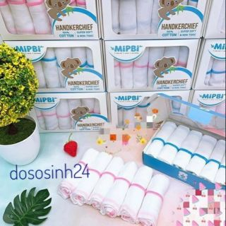 Mipbi - Hộp 6 khăn sữa 3 lớp 4 lớp (30x30)