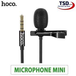 Microphone Mini Hoco Di02 Kẹp Áo Chính Hãng Có Màng Lọc Tạp Âm