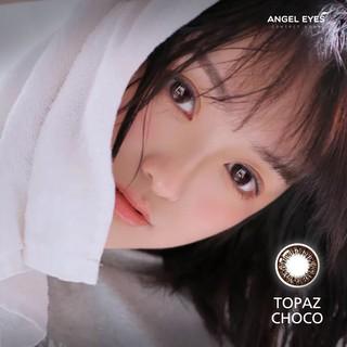 Kính áp tròng Angel Eyes - TOPAZ - Topaz Choco - Silicone - DIA 14.7 - Độ cận 0-8 thumbnail
