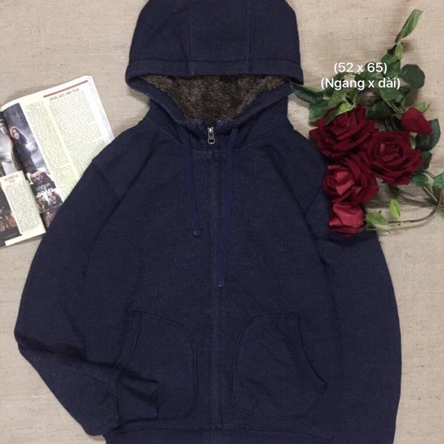 Áo hoodie zipper xanh đen