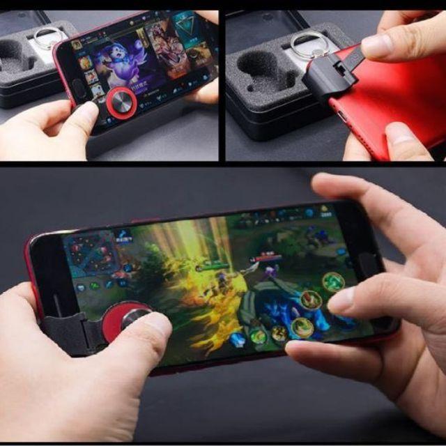 Nút bấm Joystick A9 kèm nhẫn điện thoại dành cho các game mobile PUBG, Liên quân Mobile, ROS, CrossF