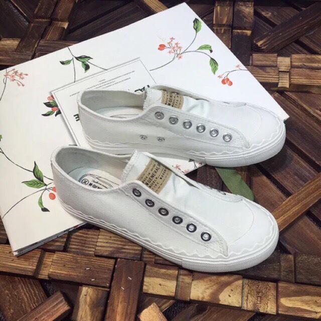 161 Giày sneaker vải nữ ko dây