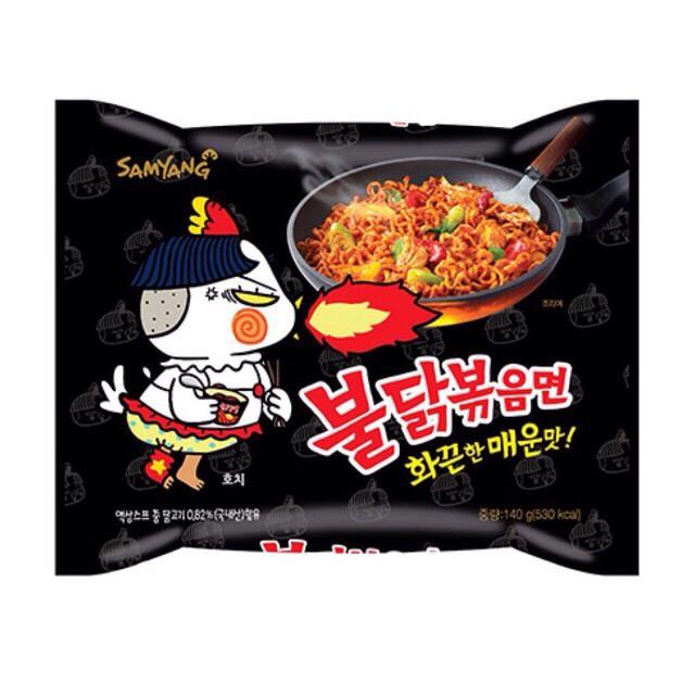 Mì cay Hàn Quốc Samyang, mì khô gà