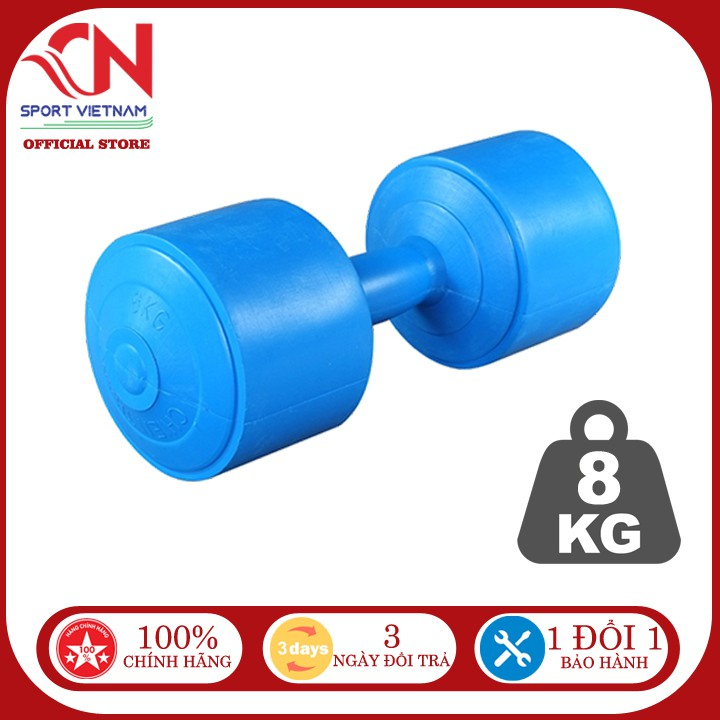 [Freeship đơn 50k] Tạ tay 8kg nhựa cao cấp tập gym tập thể dục