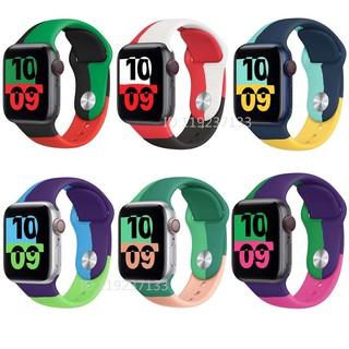 Dây đeo Apple Watch Strap Silicone mềm 38/40mm 42/44mm cho iWatch Series SE 6/5/4/3/2/1