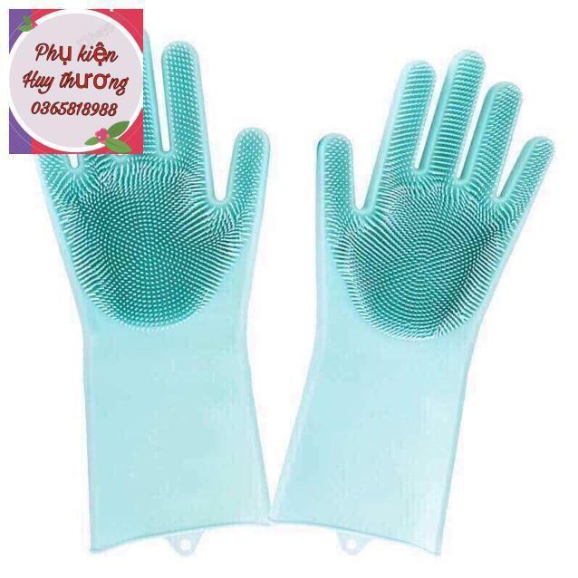 Găng tay silicon gai rửa bát