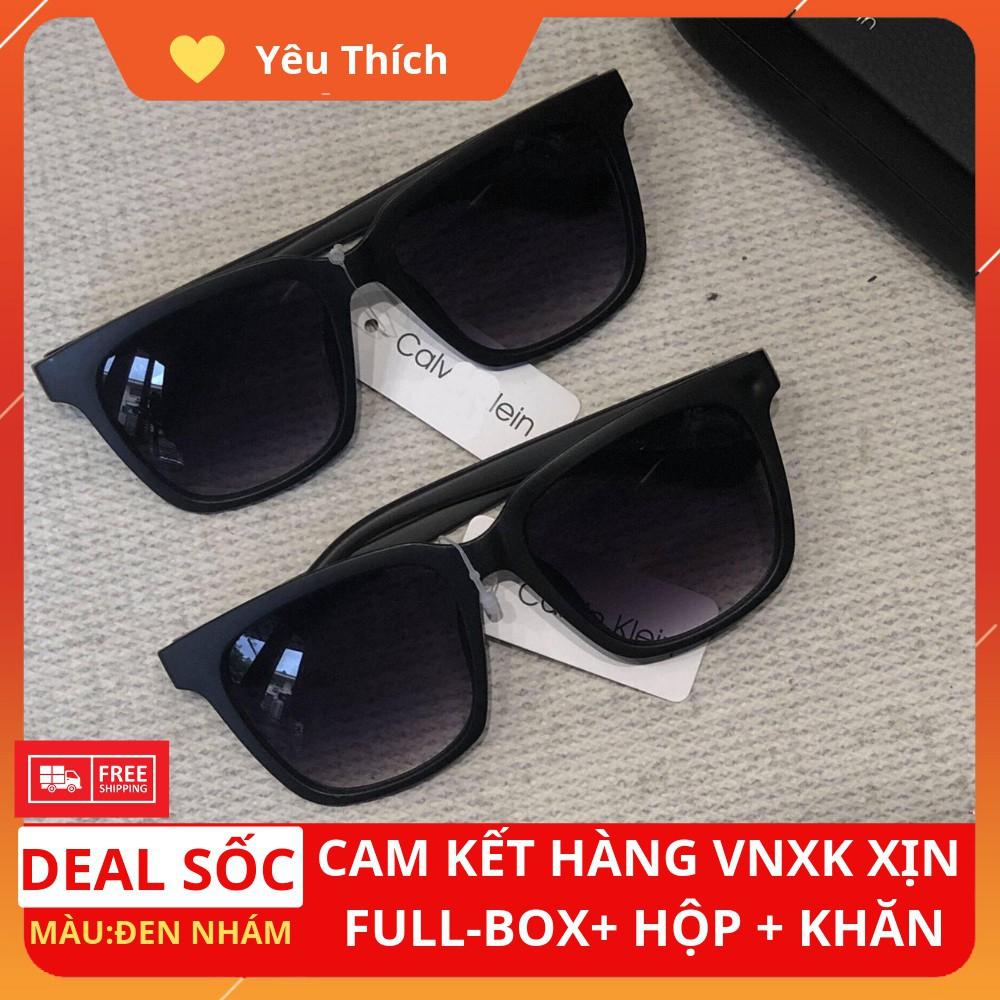 [Hàng Hiệu] [FreeShip] Mắt kính mát nam đen hàng hiệu CK vnxk FullBox