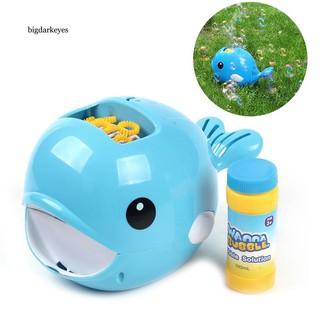 BDK Cartoon Whale Automatic Bubble Machine Blower Maker Outdoor Sports Kids Toy