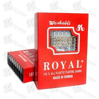 [ mã RADIR1 giảm 10%] Bộ bài tây nhựa Royal Xdep