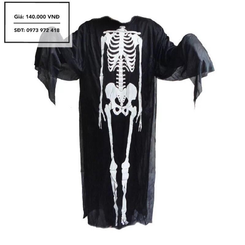 Trang phục Cosplay người xương (Tặng găng tay xương)