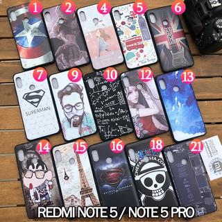 FREESHIP ĐƠN 99K_15 mẫu Ốp lưng hình 3D Xiaomi Redmi Note 5 / Note 5 Pro , nhựa TPU dẻo, chống vân tay